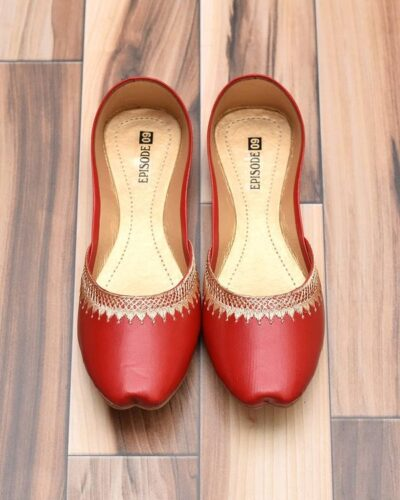 Crimson Red Khussa Shoes