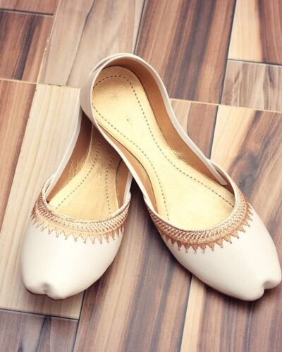 Pearl white Khussa Shoes
