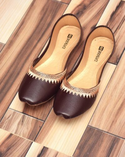 Brown Khussa Shoes