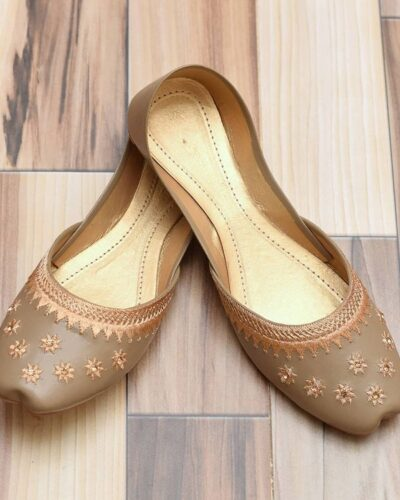 Tan Star Khussa Shoes