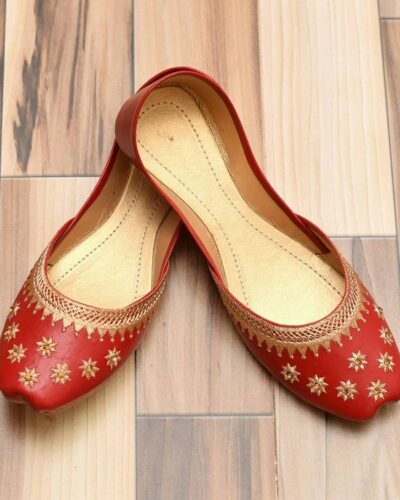 Red Khussa Shoes
