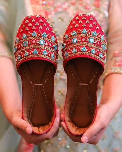 Gale (Red) Khussa Shoes