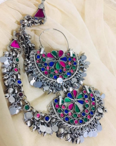 Colorful Silver Earrings